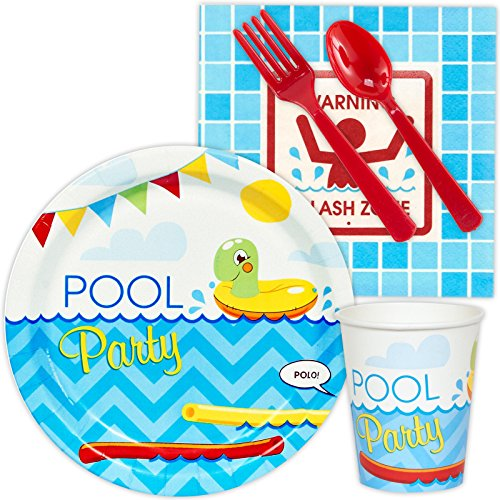 BirthdayExpress Splashin' Pool Party Supplies - Snack Party Pack Bundle