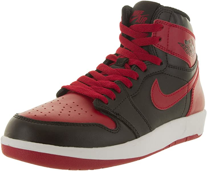 reputable site 581a5 d9bc9 Nike Jordan Kids Air Jordan 1 Hi The Return Bg Black Black Gym Red
