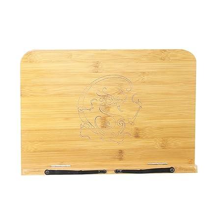 YaaQun Soporte para lectura Ajustable Bamboo Atril de mesa Atril ...