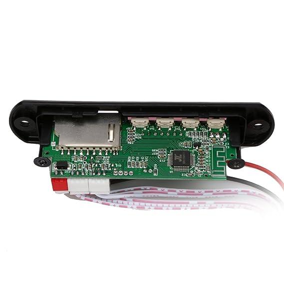 Módulo de reproductor de audio Bluetooth USB SD TF FM MP3 WMA Decodificador Junta Altavoz de control remoto: Amazon.es: Coche y moto