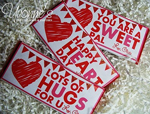 Valentine's Day Candy Bar Wrappers - Per - Hershey Chocolate Bar Wrappers Shopping Results