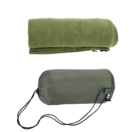 Alomejor Saco de Dormir Militar Verde Ultra-Light Envelope Rectangular Sleeping Bags Saco de Dormir