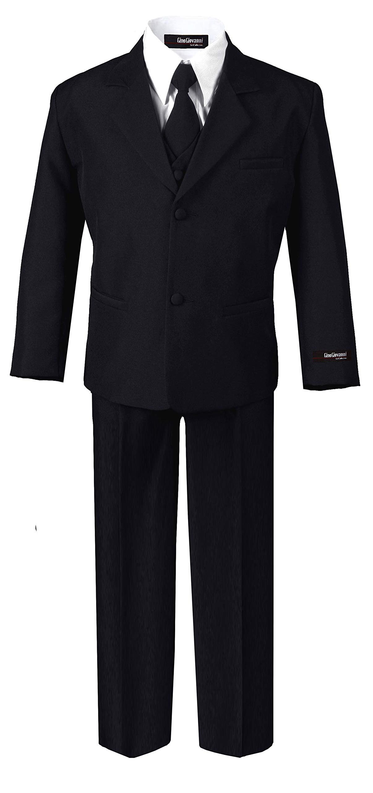 US Fairytailes Formal Boys Suit from Baby to Teen (Medium/6-12 Months, Black) by US Fairytailes