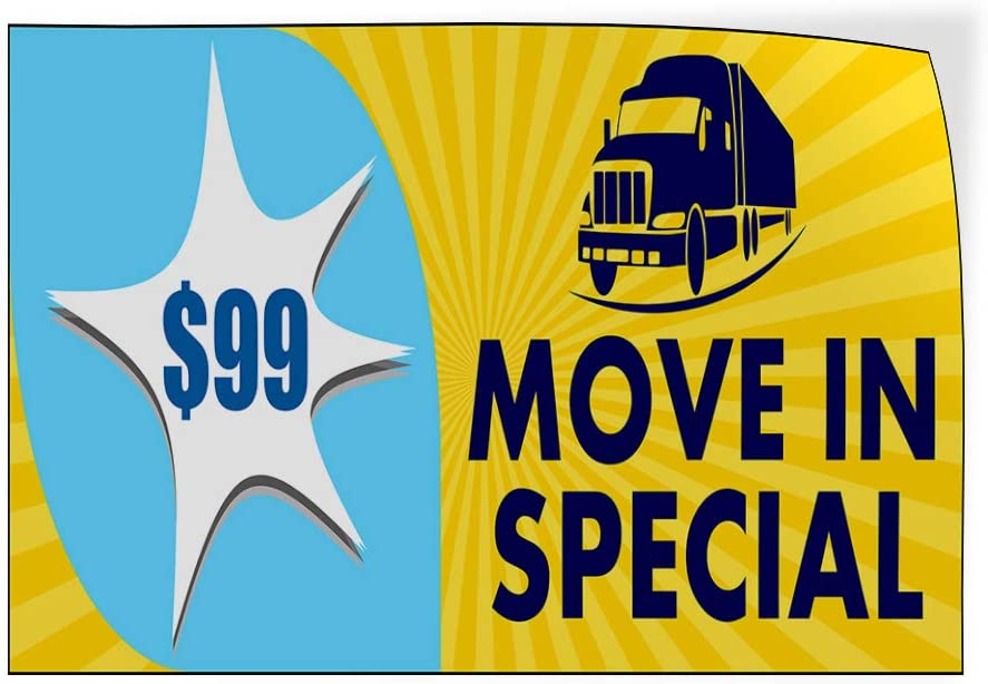 Custom Door Decals Vinyl Stickers Multiple Sizes Move in Special Price Yellow Business Move-in Specials Outdoor Luggage /& Bumper Stickers for Cars Yellow 69X46Inches 1 Sticker
