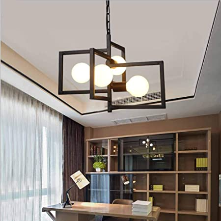 Luz Colgante Escalera Creativa 4 Cabezas araña Simple para Oficina Restaurante Bar Ropa Tienda candelabros Negro: Amazon.es: Hogar
