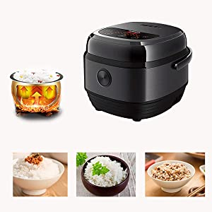 GAYBJ Digital Rice Cooker Rice Cooker Steamer Multi-Cooker with 8 programmes Premium Inner Pot Timer and Keep Warm Function Rice for up to 8 People,A,3L