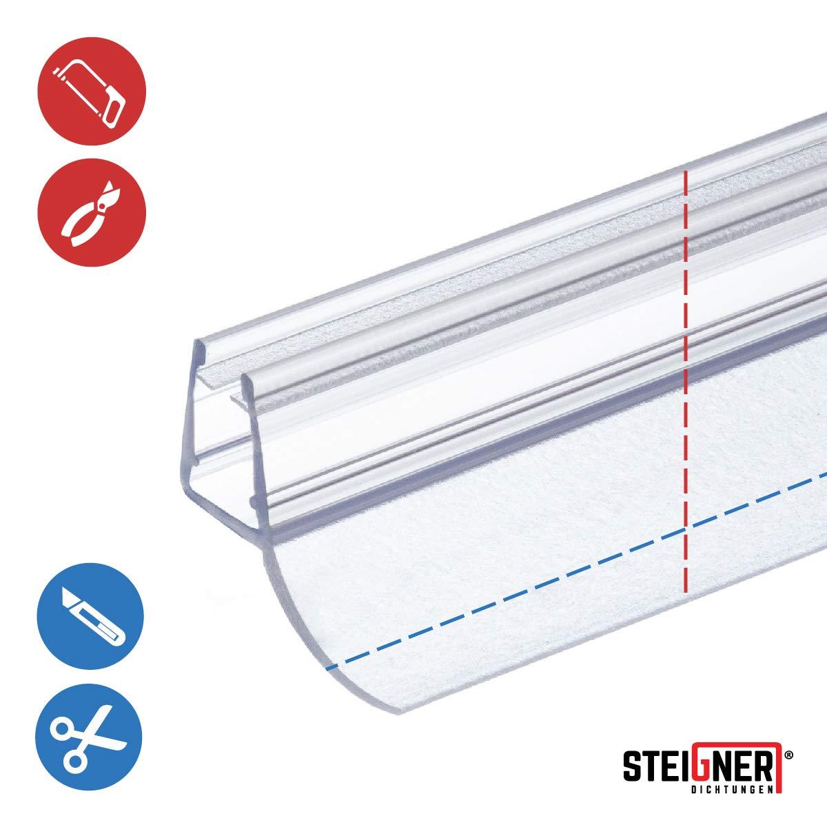 70cm UK12 Junta de recambio para ducha deflector de 5mm// 6mm// 7mm// 8mm vidrio grueso agua sello ducha de protecci/ón de sobretensi/ón recta