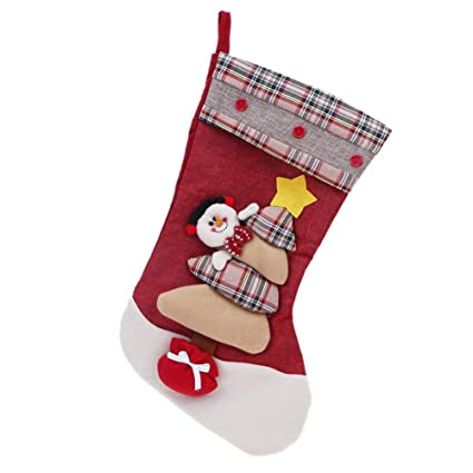 demiawaking 3d calcetines Navidad de colgar, sobre regalo Náutico, Calcetín de Navidad, bolsas