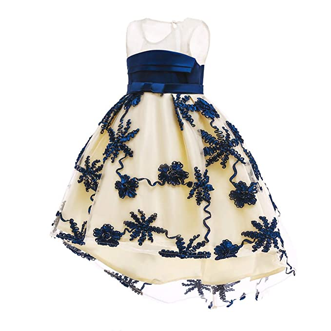 Baby Toddler Girls Wedding Princess Dress Clothes 1 5 Years Old Kids Lace Floral Birthday