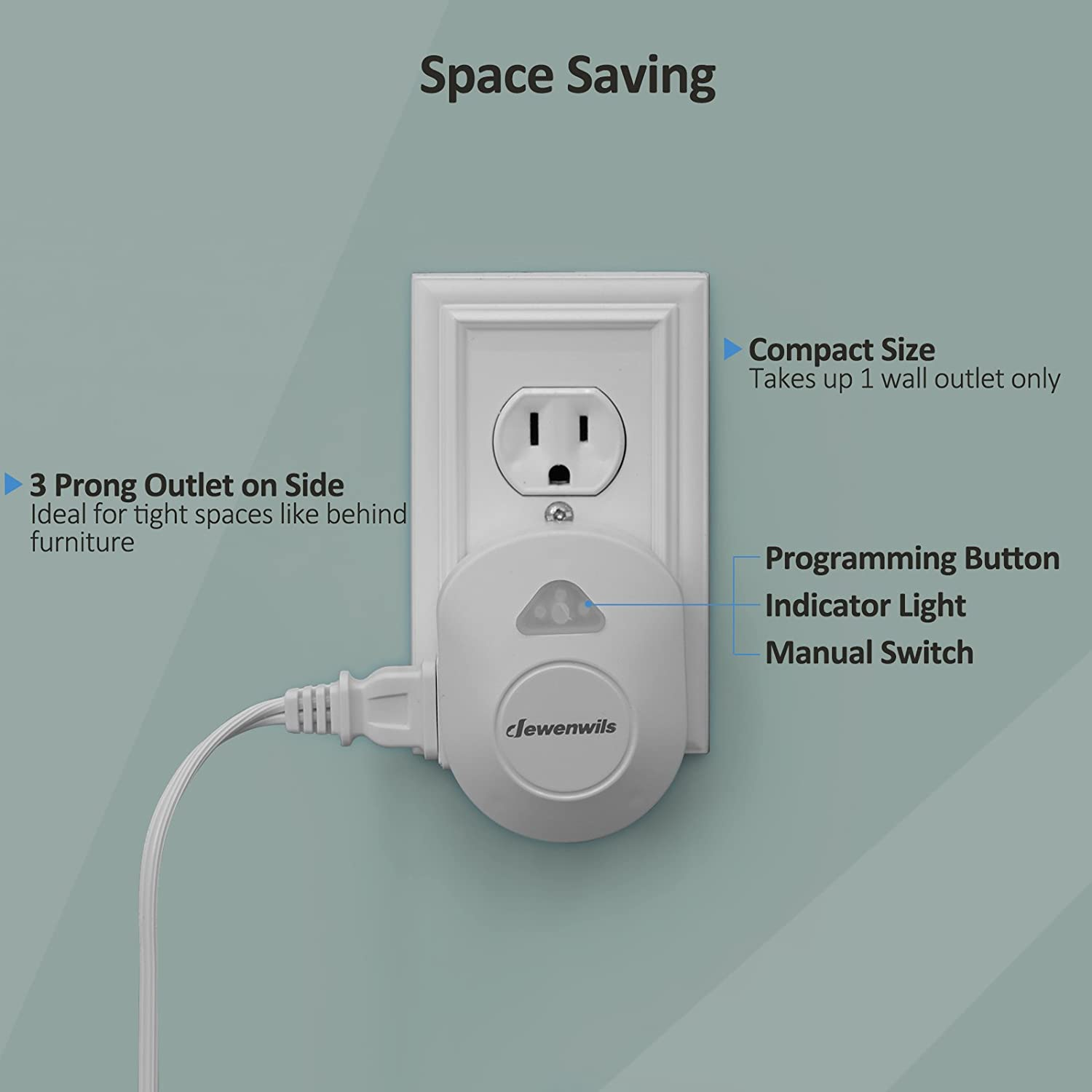 Dewenwils Wireless Wall Switch Remote Control Outlet Electrical Plug And Switchceilinglightjpg On Off Light For Lamp No Interference 15 Amp Heavy Duty 100 Rf Range