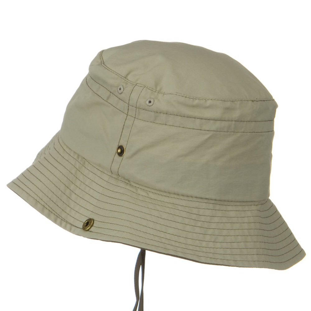 a5c8732069df52 UV 50+ Sun Protection Talson Bucket Hat - Khaki Brown at Amazon Men's  Clothing store: