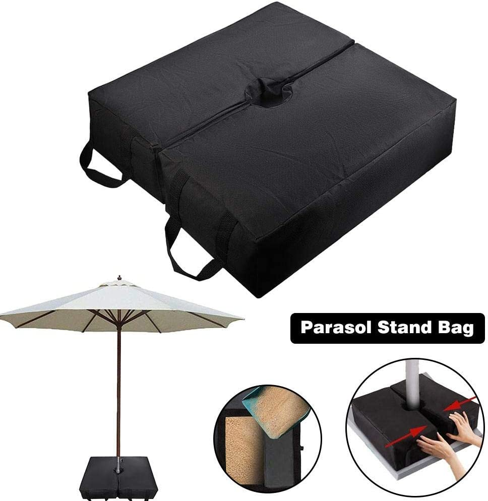 afto mket Square Parasol Stands Bases Umbrella Base Weight Bag With Handles For Parasols Or Flag Poles Add Weight,18 In Detachable Canopy Sand Tent Wind-proof Fixing Sandbags