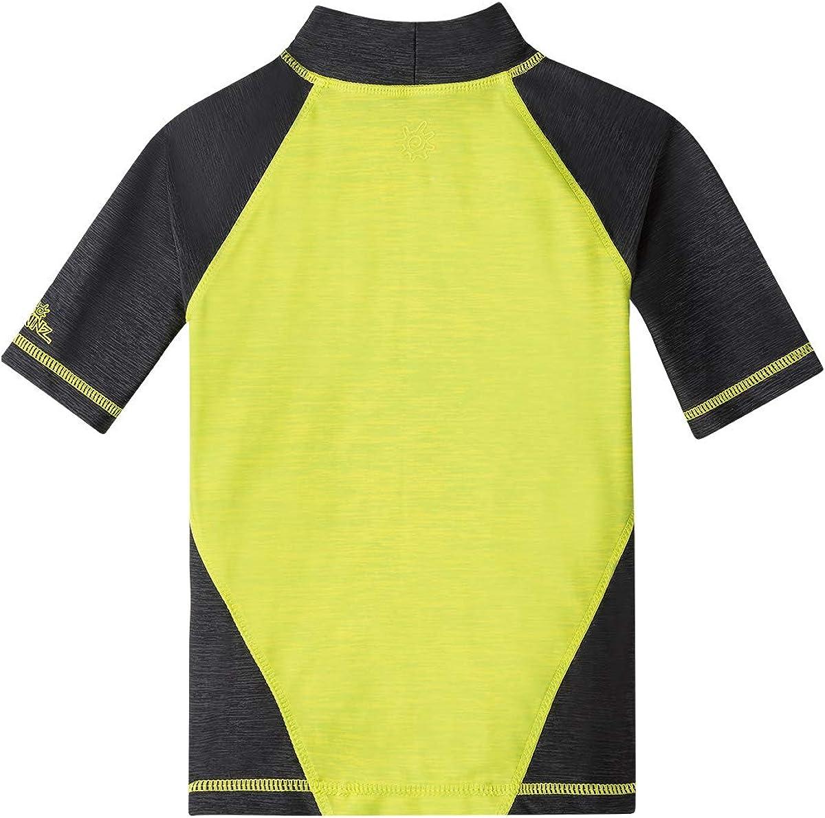 Boys Racer Stripe Board Shorts-Navy UV SKINZ UPF 50