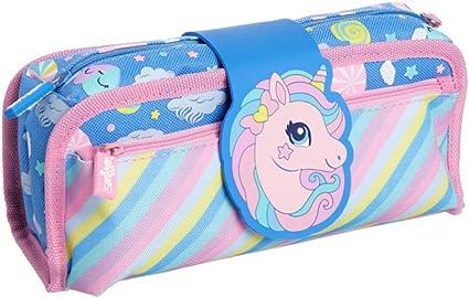 Smiggle - Estuche de tela, diseño de unicornio azul: Amazon.es: Oficina y papelería