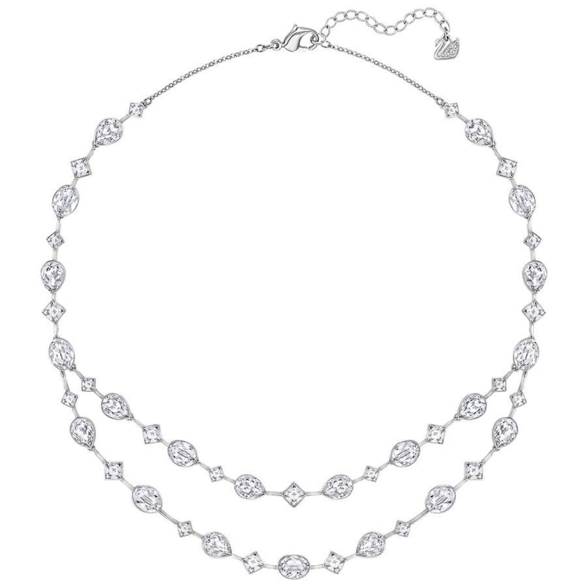 Swarovski Folk Crystal Silver-Tone All-Around Necklace
