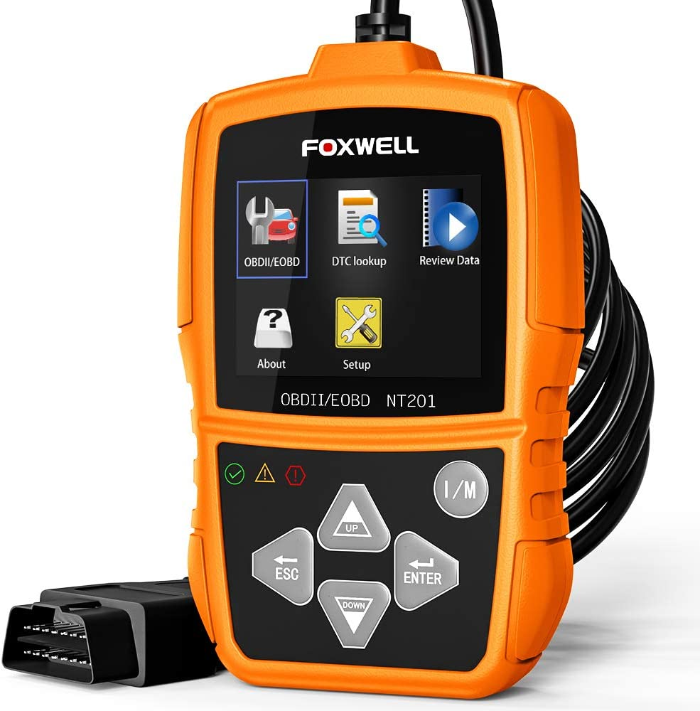 Popuppe Universal OBD2 Scanner Engine Fault Reader Read Clear Codes with LCD Display View Freeze Frame Data,I//M Readiness Smog Check CAN Diagnostic Scan Tool,5 Language Support