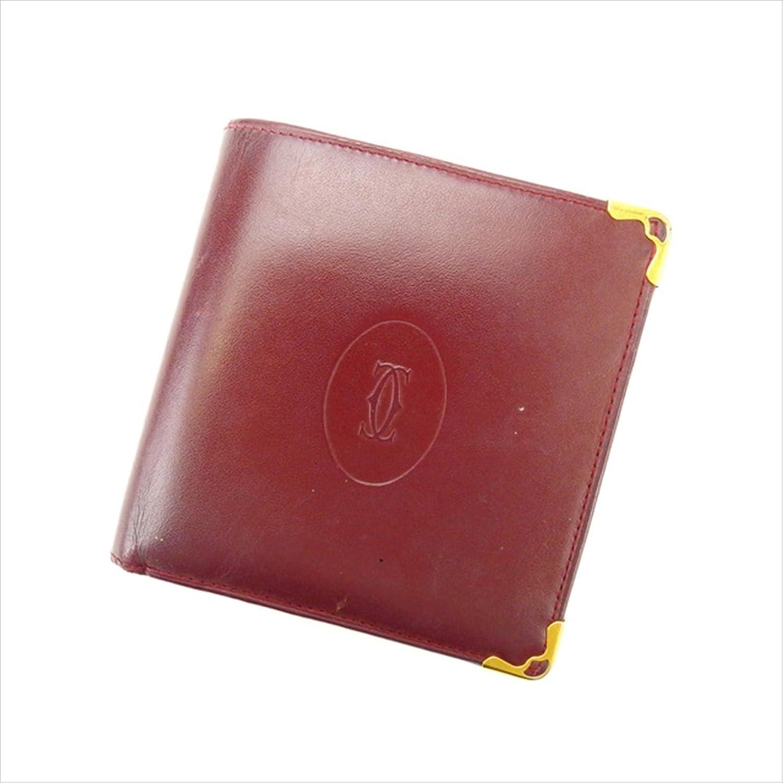 カルティエ Cartier 二つ折り財布 ユニセックス マストライン 中古 人気 激安 Y1756 B0772RV8SH
