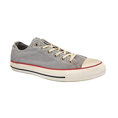 e7cf8a28531ab9 Converse Chuck Taylor Washed Canvas Ox 136713C Unisex Laced Canvas Trainers  Grey - 3  Amazon.co.uk  Shoes   Bags