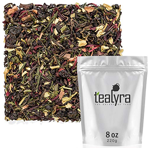 Tealyra - Fat Burner - Wellness weight-loss Tea Blend - Pu Erh Aged with Sencha Green Tea and Wu-Yi Oolong - Diet Refreshing - Natural Ingredients - Healthy - Detox Loose Leaf Tea - 220g (8-ounce)