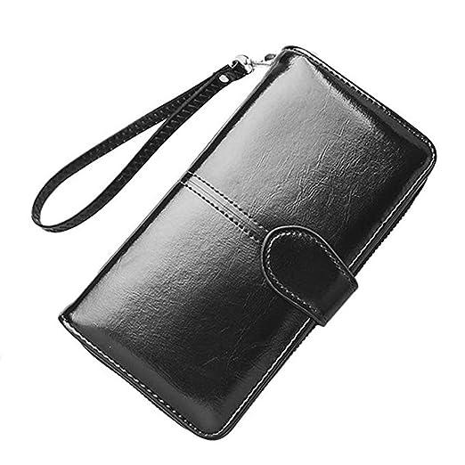 78f3dc167a75 Womens Wallet Clutch Wristlet Purse RFID Blocking Credit Cards Zipper Wallet