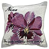 Orchid Nana Pillow - Grandma Gift - Made in USA