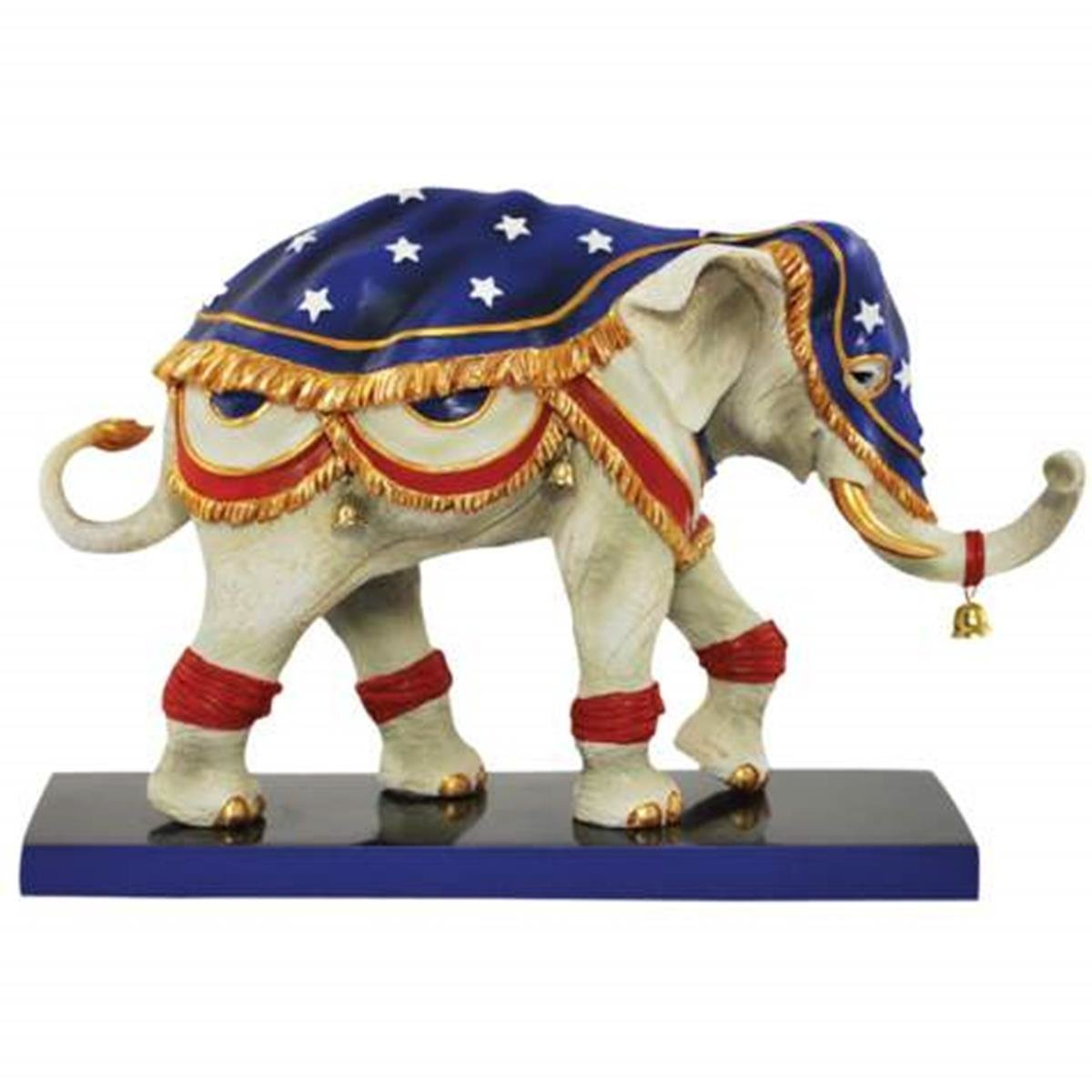 5 Inch Liberty Bell Decorated Elephant Collectible Figurine Statue 5 WL SS-WL-13079