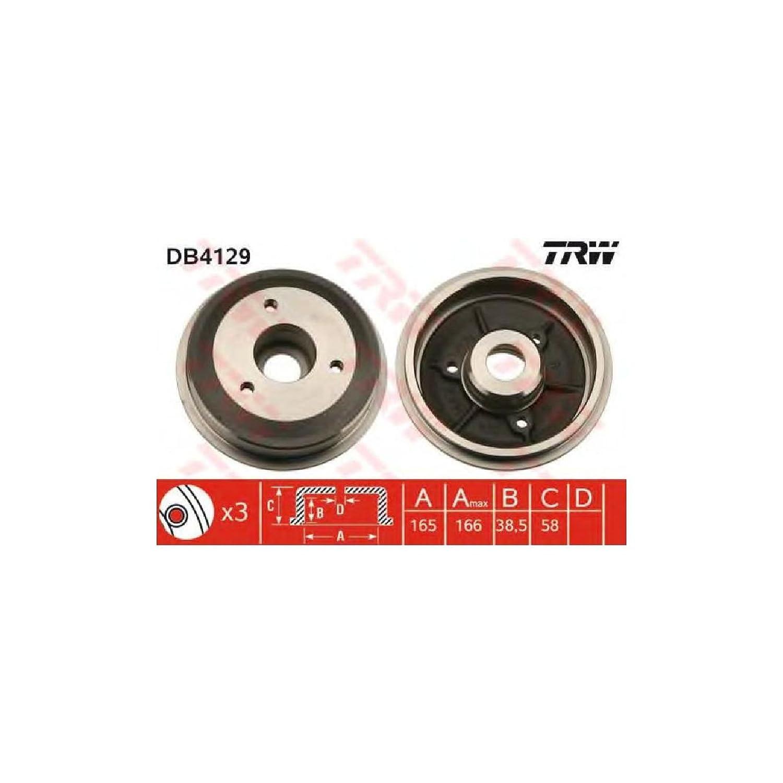 TRW Automotive AfterMarket DB4129 tambor de freno