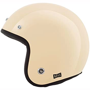 Motocicleta Nexx XG10 garaje Purist casco – Color Crema UK vendedor