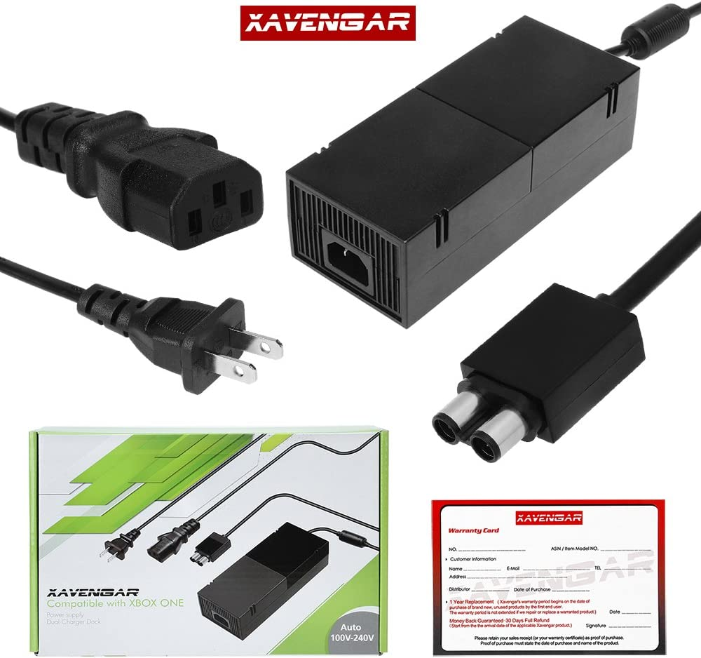 Amazon.com: Xavengar AC Adapter Power Supply Cord for Xbox One ...