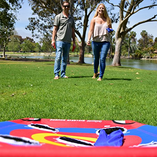 61DoRZocBuL - GoSports Bullseye Bounce Cornhole Toss Game - Great for All Ages & Includes Fun Rules