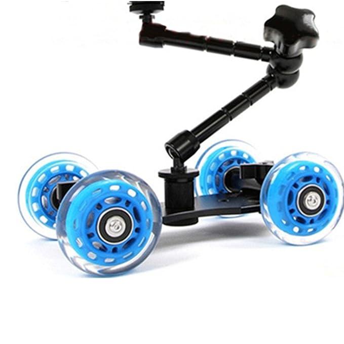 Universal Handy-Roll Dolly Auto Skater für Speedlites Kamera Rig Schwarz