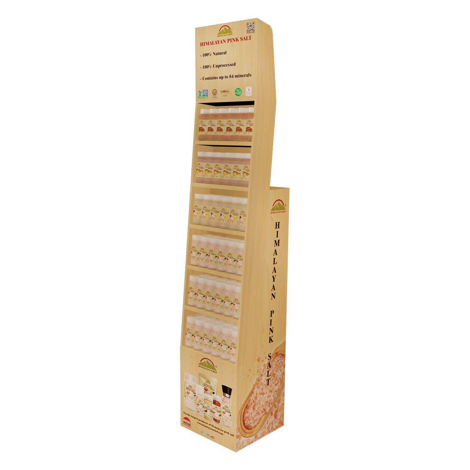 Shipper Display Shelf for Shakers & Seasonings - 72 Pieces Total 36 pcs of 5300, 6 pcs each of 5331,5332,5333,5334,5335,5336