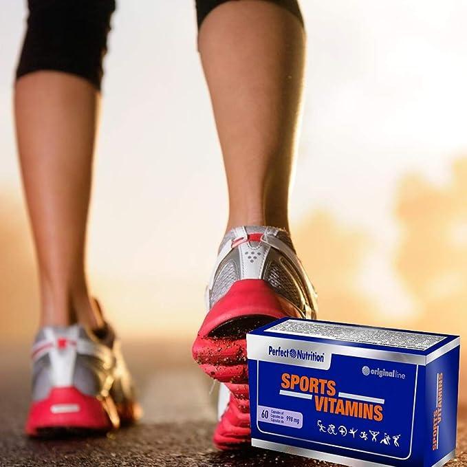 Vitaminas para deportistas multivitaminas en cápsulas para Hombre/Mujer Suplemento vitaminico para evitar la fatiga y mejorar el rendimiento ...