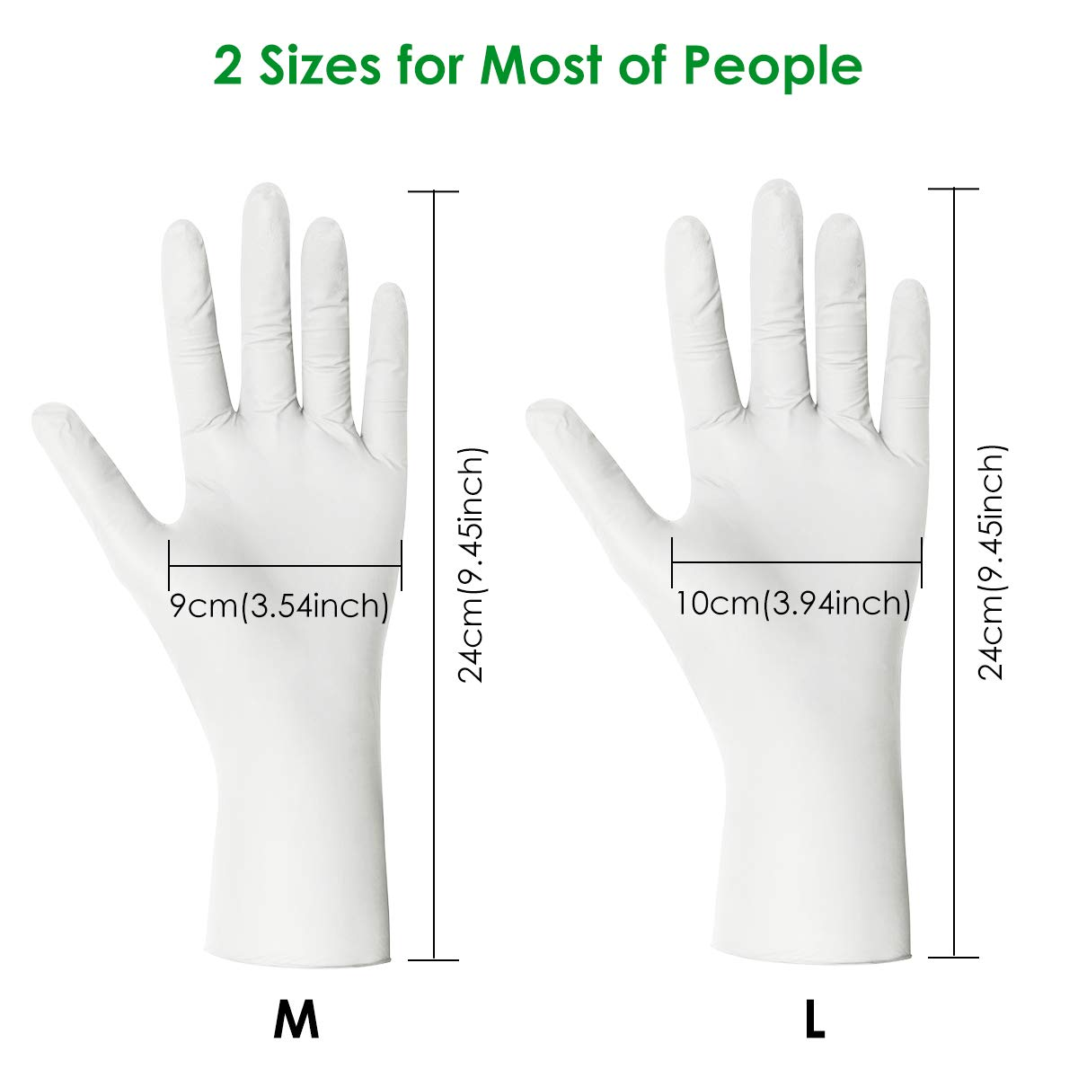 Size: S Wear-resistant Anti-allergic Latex Free Official Store:Hufancy 100PCS Nitrile Gloves Hizek Blue Disposable Gloves Medium