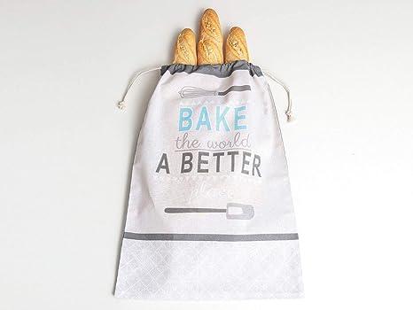 Bolsa para Pan Bake 100% algodón súper Resistente