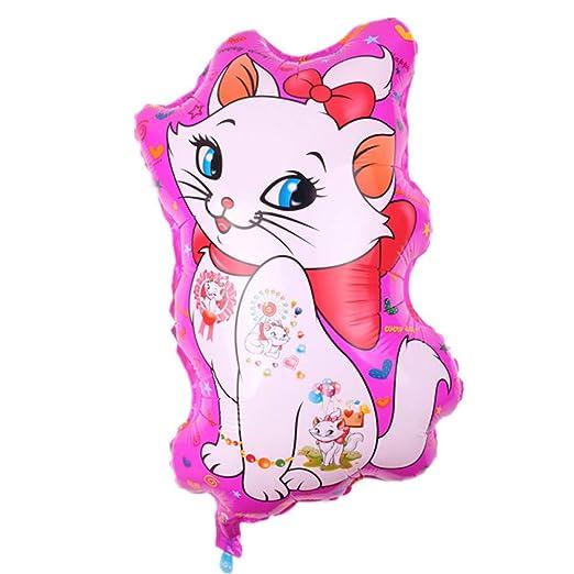 ZLJTT Lovely Cat Foil Balloons Forma de Gato de Dibujos ...