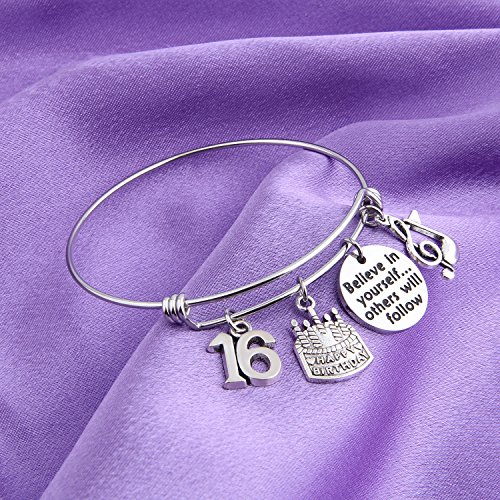 MAOFAED 21st birthday bracelet 13th Sweet 16 18th Inspiration Birthday Gift Believe in yourself Anniversary Jewelry (B-16th) by MAOFAED (Image #2)
