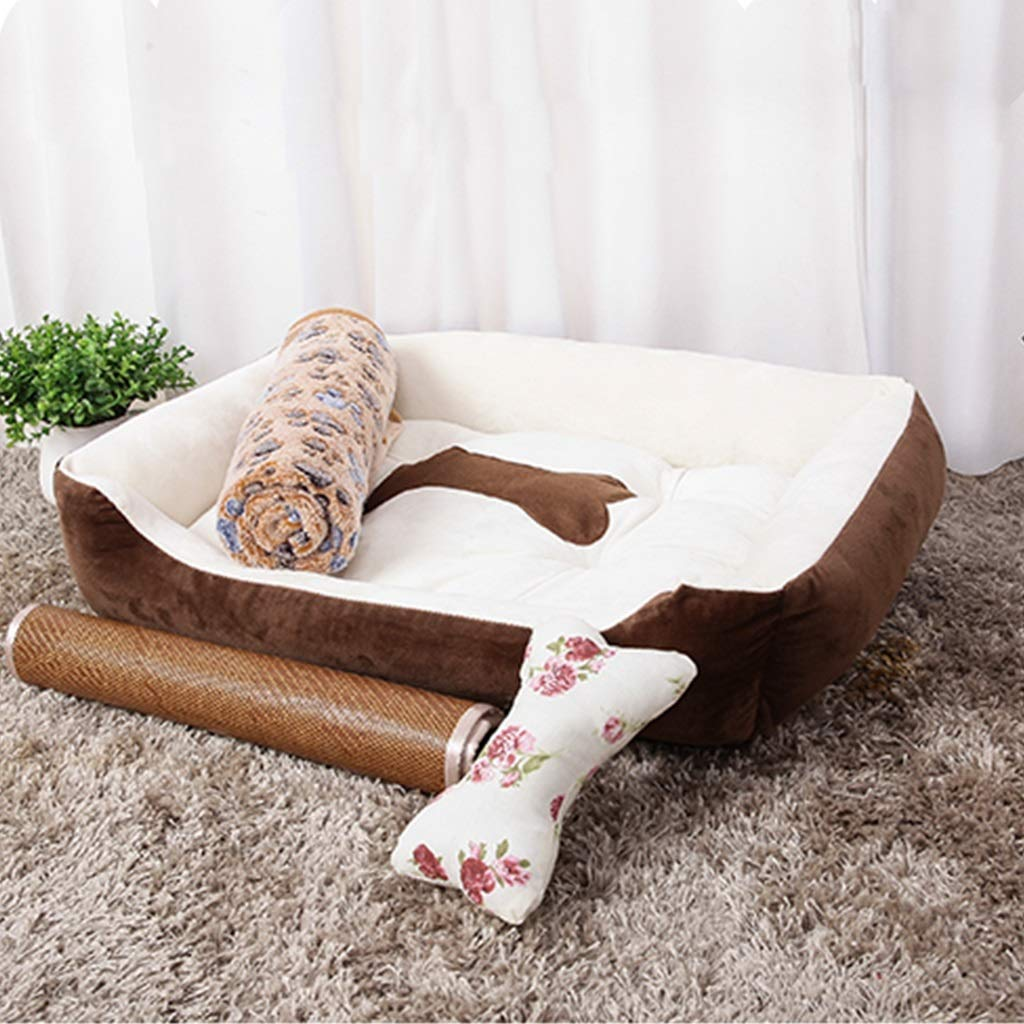 Brown X-Large Brown X-Large Dogs Beds Furniture Bed Blankets Pet Supplies, Kennels, Removable and Washable, Seasons, Pet Nest, Cat's Nest, Small Dog Kennel, Dog Bed, Dog House, Blanket, Mat (color   Brown, Size   XL)