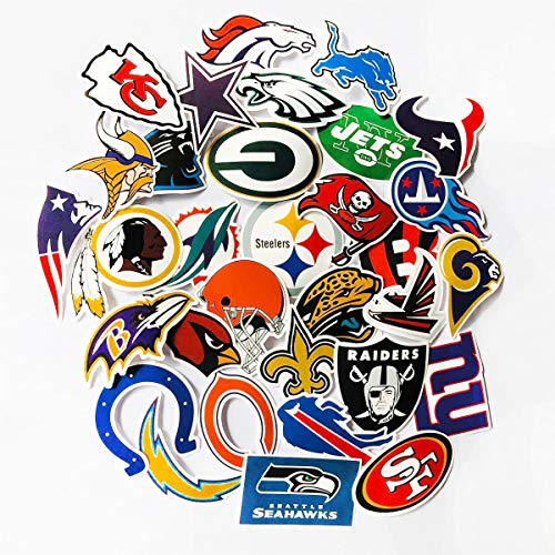 (ZUIYIJIANGNAN Sport Sticker American Football Stickers NFL New England Patriots Philadelphia Eagles Badge Stickers Snowboard Laptop Luggage Car Motorcycle Bicycle Fridge DIY Styling Vinyl Home Decor)