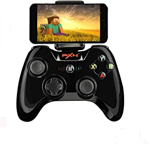 MFi Game Controller - PXN 6603 Speedy Wireless Joystick Gamepad with Adjustable Clamp Holder Compatible with iOS