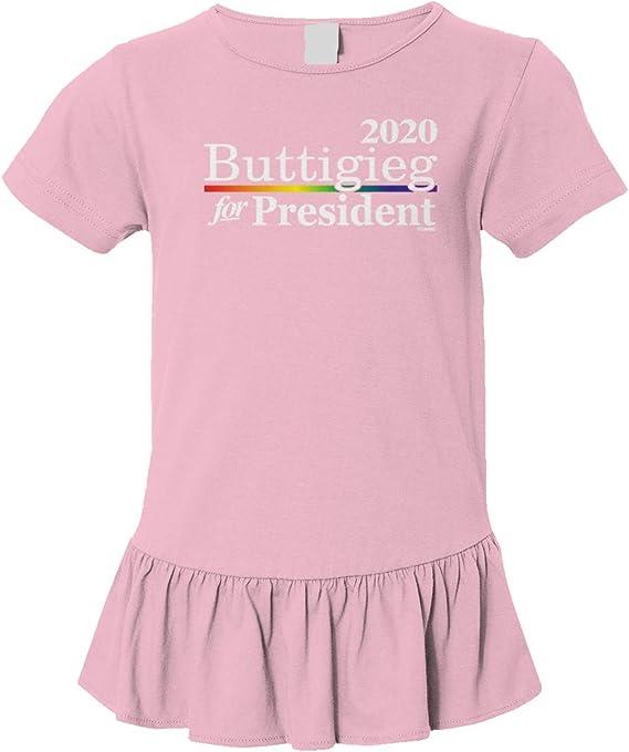 Tcombo Buttigieg for President 2020 LGBT Long Sleeve Toddler Cotton Jersey Shirt