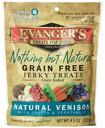 EVANGER'S 776303 Nothing But Natural Venison Dog Treats, 4.5-Ounce