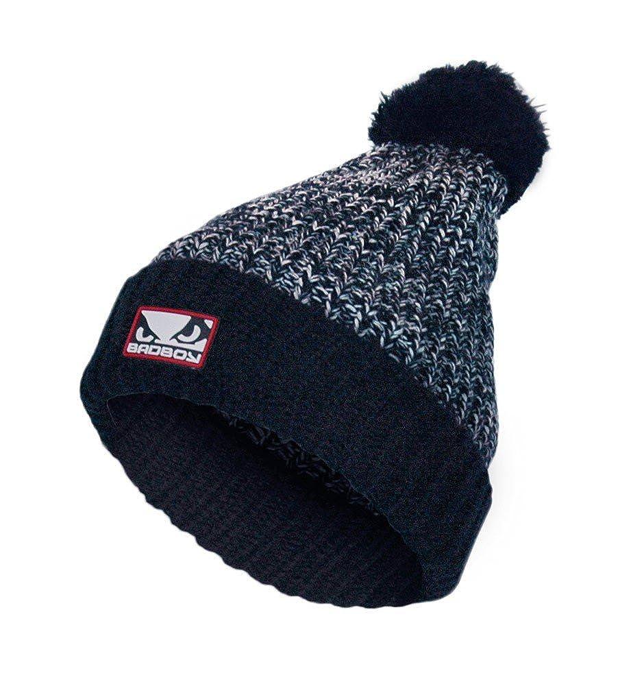 Bad Boy Winter Fleece Bobble Beanie Hat Navy