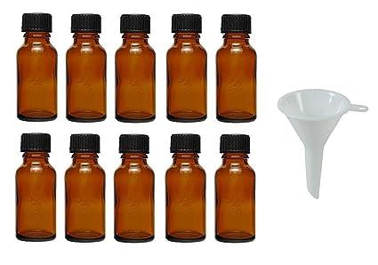 Viva Haushaltswaren – 10 tropffl Ash 20 ML/Farmacia Botellas con tropfei nsatz en marrón