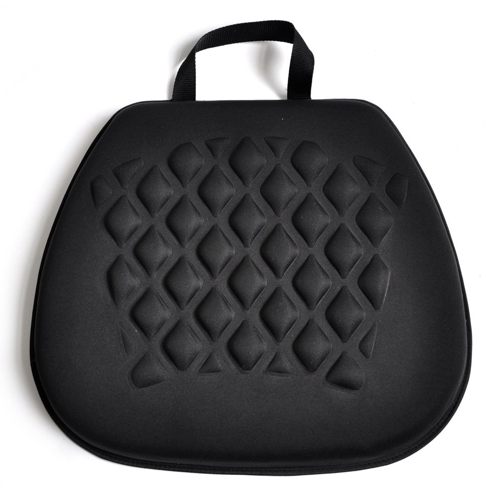 Tektrum Portable Cool Gel Orthopedic Seat Cushion with Massage Convexes for Wheelchair, Office, Home, Car - Relief for Sweaty Bottom, Sciatica, Coccyx, Back Pain, Hip Pain, Leg Pain (GS1211-BLK)