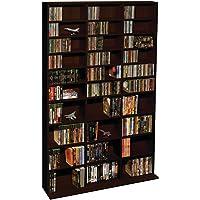 Atlantic Oskar Adjustable Media Cabinet - Holds 1080 Cds, 504 DVDs or 576 Blu-Rays/Games, 30 Adjustable and 6 Fixed Shelves PN38435714 in Espresso
