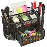 Kangsur Desk Organizer Multifunction multi-compartments Metal Mesh with Drawer