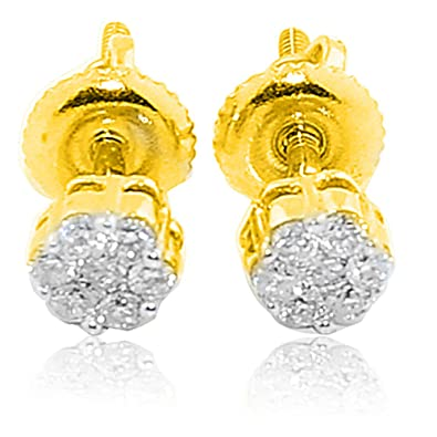 Image Unavailable. Image not available for. Color  14K Gold Diamond Earrings  ... cf1cfd608d