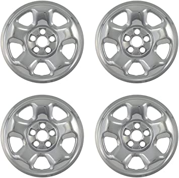 Set of 4 Wheel Covers Car Accessories for 17inch Chrome Wheels OxGord 17 inch Hubcap Wheel Skins for 2008-2011 Honda Accord- Auto Tire Replacement Exterior Cap Cover