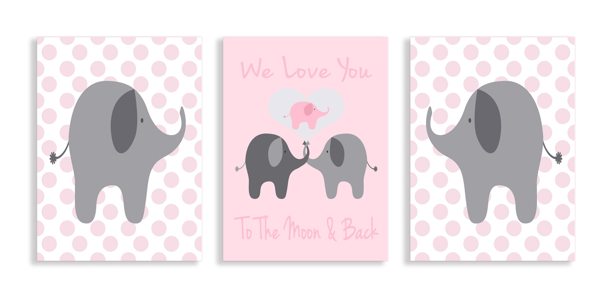 The Kids Room by Stupell We Love You to the Moon and Back 3-Pc. Rectangle Wall PlaqueSet